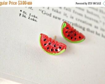 Sale watermelon. earrings.