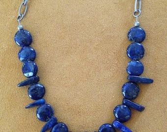 Lapis Lazuli Antique Silver Chain