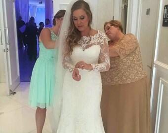 Versailles Long sleeve bridal lace top long sleeve bridal bolero ivory lace top bridal bolero jacket wedding bolero