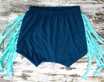Fringe Shorts - Ocean
