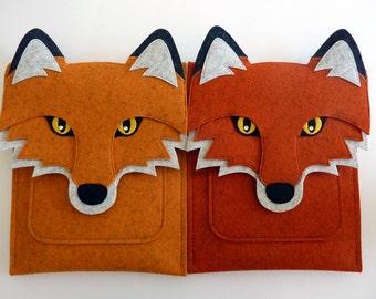 Fox iPad mini  1, 2, 3, 4 case // Woodland animal felt sleeve
