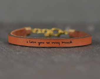 i love you so much | gift for teen | message bracelet | i miss you gift | gift for daughter | love you more | hugs and kisses | jewelry
