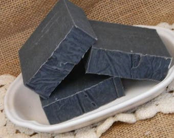 Unscented Activated Charcoal Goats Milk Soap Fragrance Free