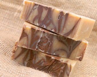 Oakmoss Sandalwood Goats Milk Soap- All Natural Soap, Homemade Soap, Handmade Soap, Handcrafted Soap, Goats Milk Soap, Cold Processed Soap
