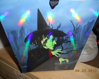 Warner Brothers The Wizard of Oz Heavy Cardboard Bucket with Black Ribbon Handle Judy Garland as Dorothy