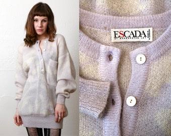 SALE 1980s Angora ESCADA Sweater Dress 80s