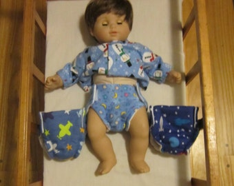 Diapers for American Girl Bitty Baby Boy Twin Doll