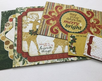 8 Pc. TRADITIONAL - Christmas Chipboard  Die Cuts -Journal Cards /Quotes & Picture Cards