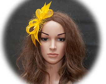 Yellow fascinator for the weddings, parties, other events- New style for 2017 events
