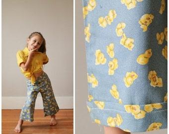 ON SALE Deadstock, 1970s Popcorn Bell Bottoms >>> Size 2t/3t/4t