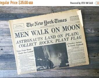 SALE Moon Landing Newspaper New York times 1969 Full Paper Eagle has landed