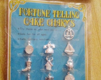 NIP Vintage Fortune Telling Cake Charms Made in Hong Kong
