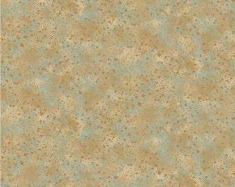 Aqua Brown Quilt Fabric Cotton Artisan Spirit  20256M-34 Northcott Quilting Sewing Crafting Material 1/2 yard cut