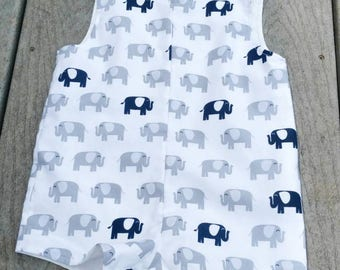 Elephant Jon Jon - Boys Jon Jons - Clothing For Boys - Elephants - Toddler Boys Clothing - Boys Birthday -  Groovy Gurlz