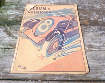 Vitage 1930/30s French Album a colorier coloring book