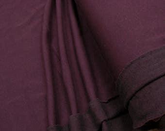 Sweatshirt fleece fabric uni bordeaux heather 0.54yd (0,5m) 003272