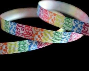 Rainbow Ribbon, Swirl Ribbon, Gradient Ribbon, Striped Grosgrain, Rainbow Grosgrain, Graffiti Ribbon, Dog Collar Ribbon, Hairbow Ribbon