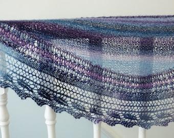 Lace Shawl Knitting Pattern Shawlette Scarf Wrap - Soulac