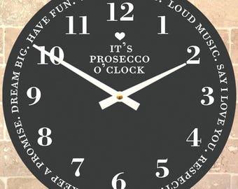 It's Prosecco O'clock' Clock