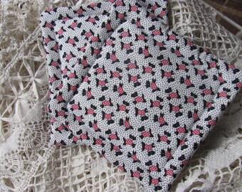 Scottie Dog  Fabric Potholders/Trivets