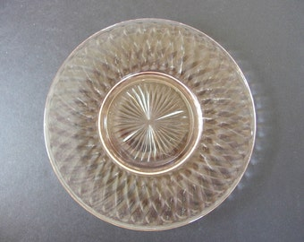 Vintage Pink Depression Glass, Hazel Atlas Diamond Pink Optic Salad or  Luncheon Plate