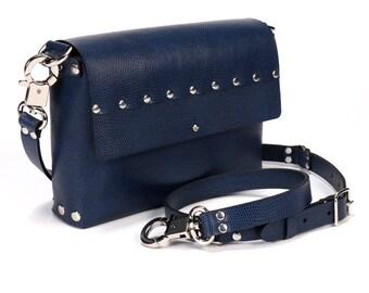 Cobalt Blue Crossbody Bag | Blue Handbag | Vegan | Made in USA