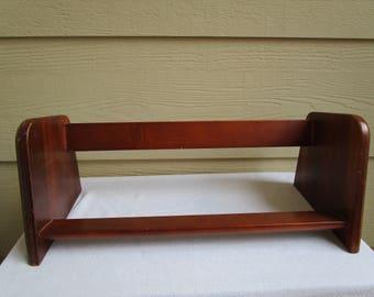 Vintage Wood Book Shelf, Holder,  table top book holder, book shelf, desk book shelf, book rack
