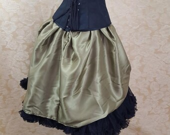 Chartreuse Pear Green Knee Length Bustle Skirt-One Size Fits All