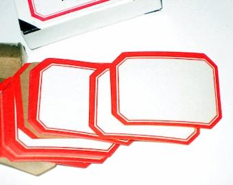 Box of 42 Vintage Dennison Gummed Labels for Altered Art, Collage, Paper Crafting, etc.