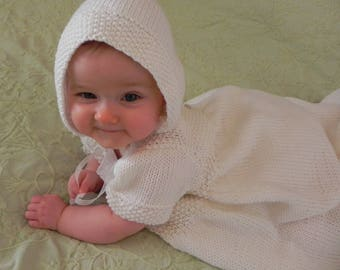 Traditional French Baptism Gown Knitting Pattern PDF