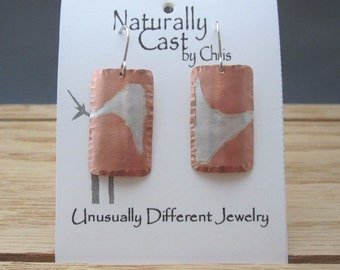 Copper with Sterling Inlay Earrings (SKU E16-72)