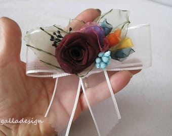 Floral hair comb, Bridal hair accessory,  wedding hair comb, Art Deco Wedding, free shipping