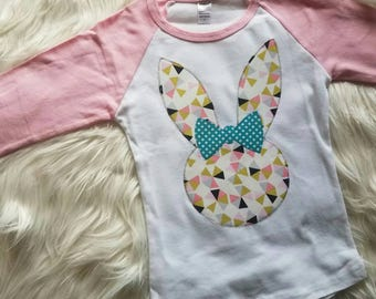 Easter Shirt for Girls, Bunny Shirt, Easter Outfit, Easter Egg Hunt Shirt, Girls Easter Shirt, Girls Shirt, Sibling Shirts, Ready to Ship