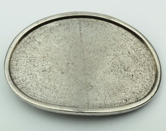 Oval Belt buckle base for embellishment, antique silver finish, 1 ea BU133AS