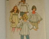 Vintage 70s Smock Tops Pattern Simplicity 5341 Large Size 16 18 Bust 38 40