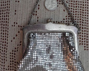 Silver Whiting and Davis Mesh evening bag.