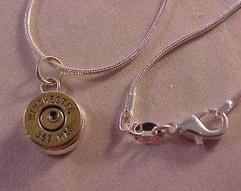357 Magnum Bullet Pendant Necklace
