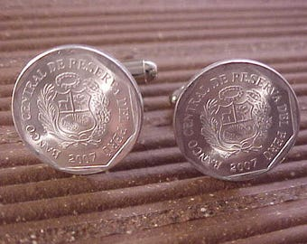 Peru Coin Cuff Links