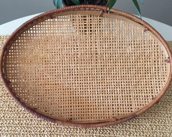 Woven Oval Tray - Small
