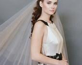 Wedding Veil, Champagne Veil, Ballet Length Tulle Veil, Bridal Veil, Tulle Veil, Double Double Layer Drop Veil #1701