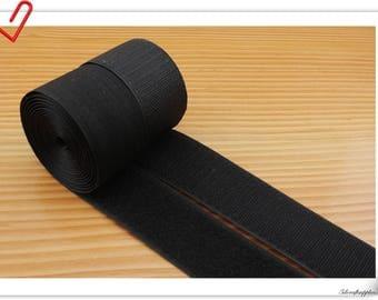 1 inch (25mm)  Black Elcro strap Hook & Loop strap sew on fasteners 5 yards  MX4