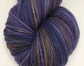 Handspun Yarn Sock Yarn 'Blueberry Liqueur' falkland 450 yds nply