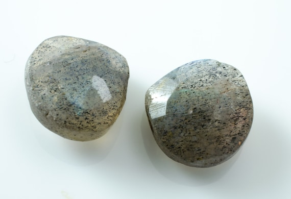 Labradorite Faceted Heart Briolettes