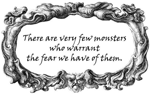gargoyle frame fear quote Digital stamp Image Download graphcs art printables words text typography graphics digi stamp clipart png clip art