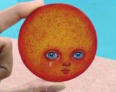 Sad Sun - Oil Painting