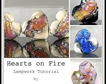 Hearts on Fire Lampwork Bead Tutorial by Jacqueline Parkes Ebook