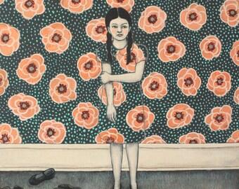 Wallflower - Fine Art Print of Original Painting
