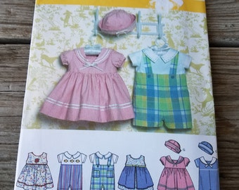 Simplicity Baby Dress, Romper and Hat pattern 4711 UNCUT