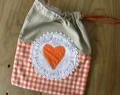 Linen string bag for BREAD