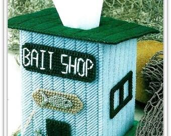 Tissue Box Cover Pattern - Fisherman Bait Shop - Instant Download PDF 59105728